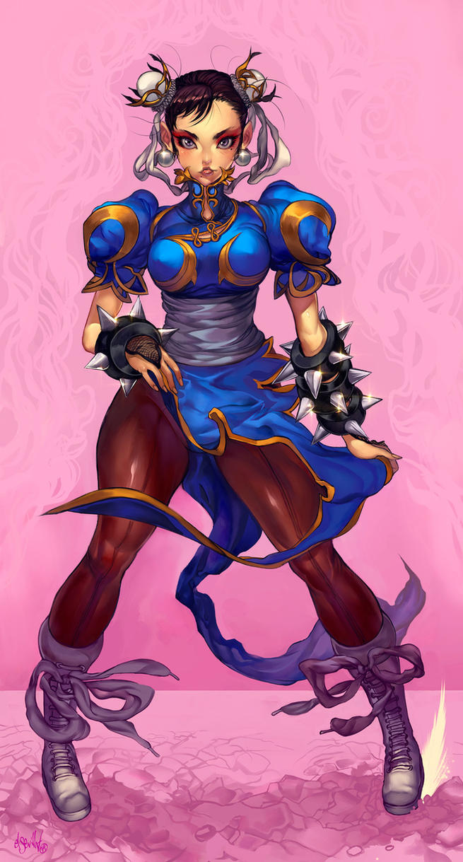 Chunli standing by elsevilla