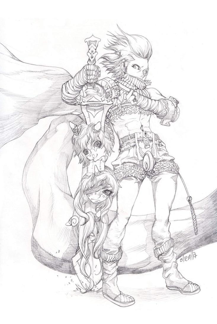 Three head sword by elsevilla