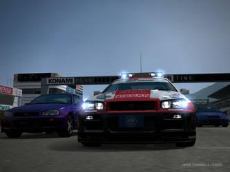 Gran Turismo Skyline GTR R34 Pace Car by GamePonySly