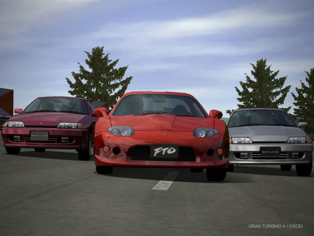 FTO vs Skyline R32 by GamePonySly