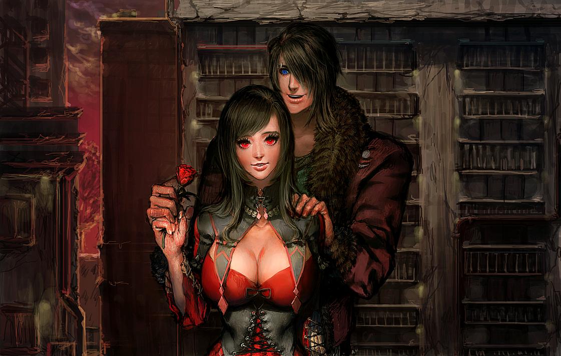 Request for Cecillia - Cecillia and Archaleon by xamxam