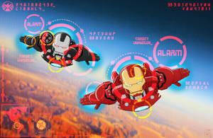 Iron Man and War Machine sketch by hannibal870