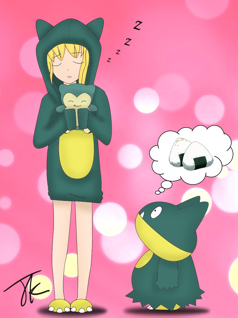 Sleeping Snorlax Girl by Juk286