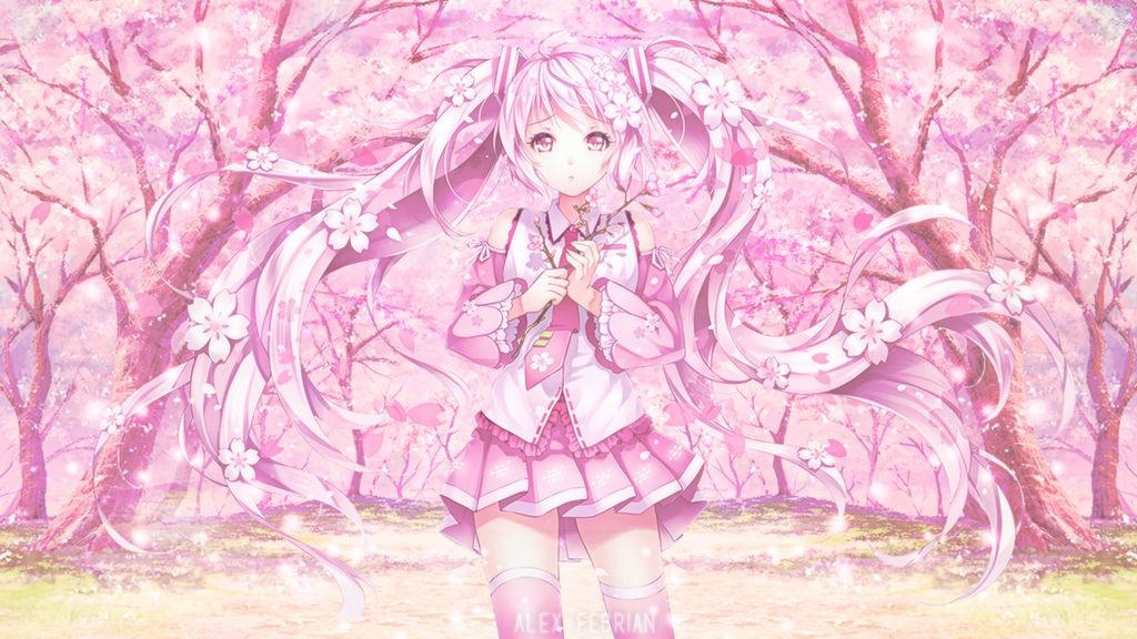 Wallpaper Sakura Miku By Alexfebrian On Deviantart