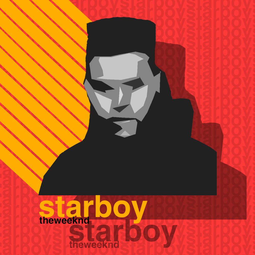 The Weeknd : Starboy Album Design by rh-yyss