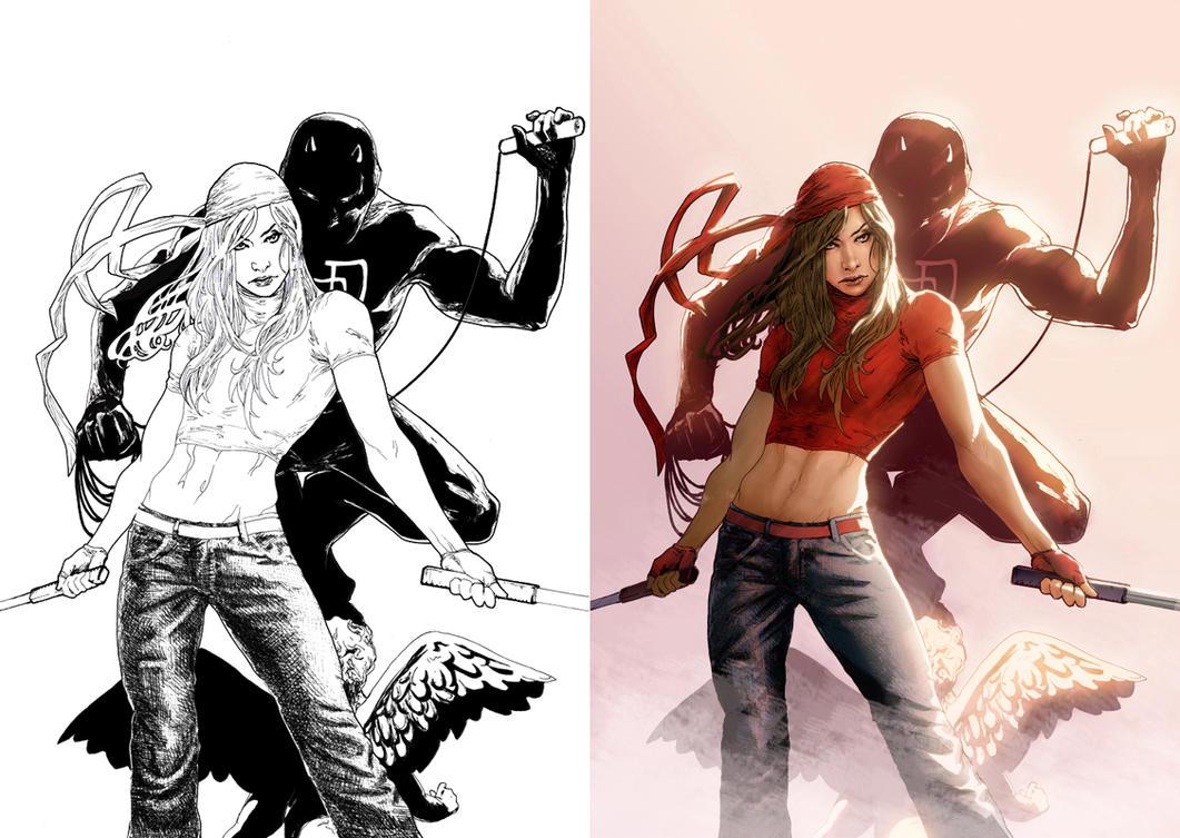 Pubg By Sodano On Deviantart: Elektra And Daredevil By Nonwings On DeviantArt
