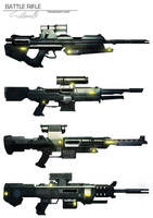 Battle rifle concepts by DESTRAUDO