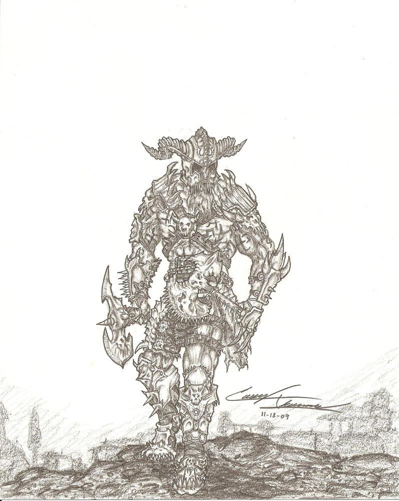 Diablo 3 Barbarian Concept by CaseyThomas