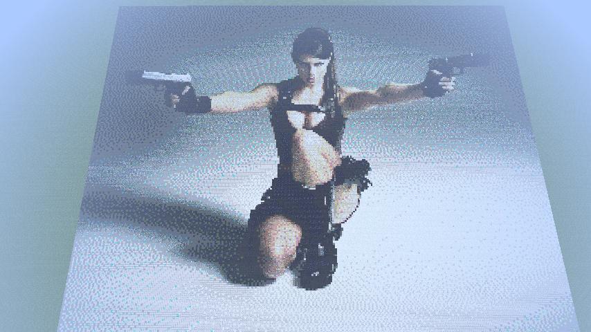 Lara Croft Minecraft Pixel Art By Cublioxroxor On Deviantart