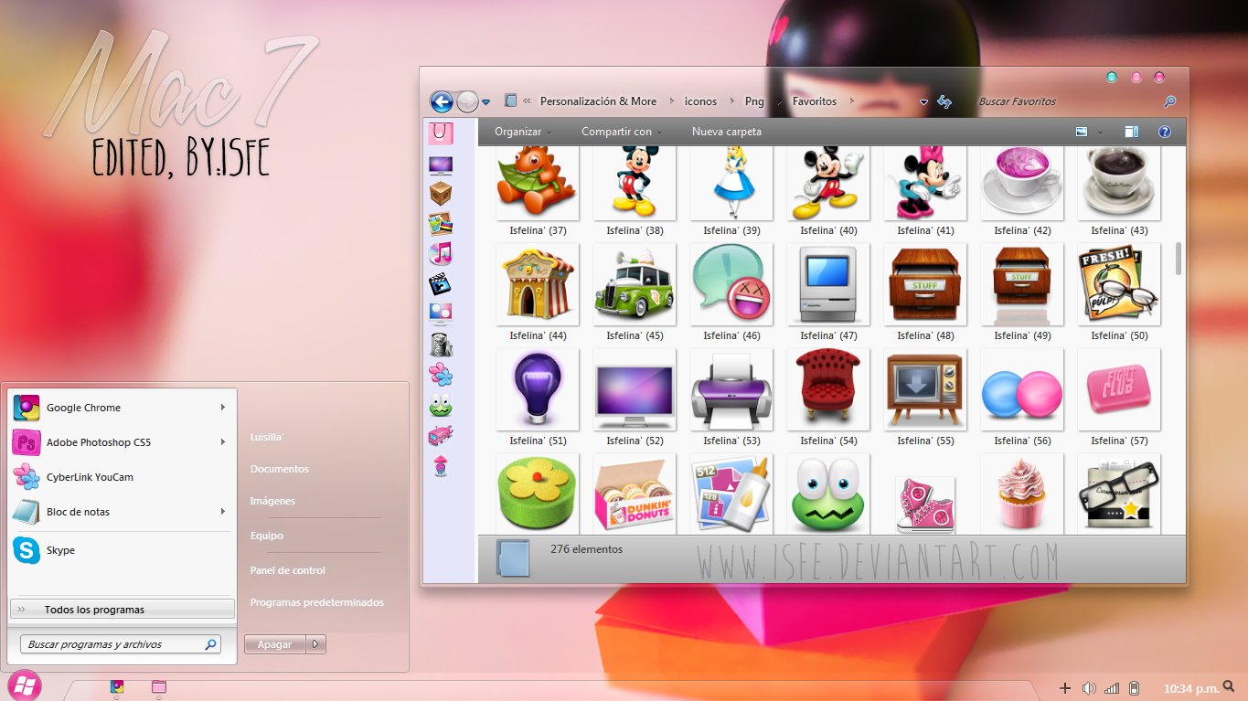 Theme for windows 7, Mac 7 edited by isfe