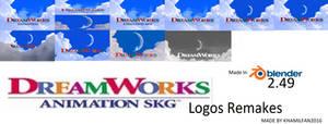 DreamWorks Animation SKG 2004 - 2009 Logos Remakes