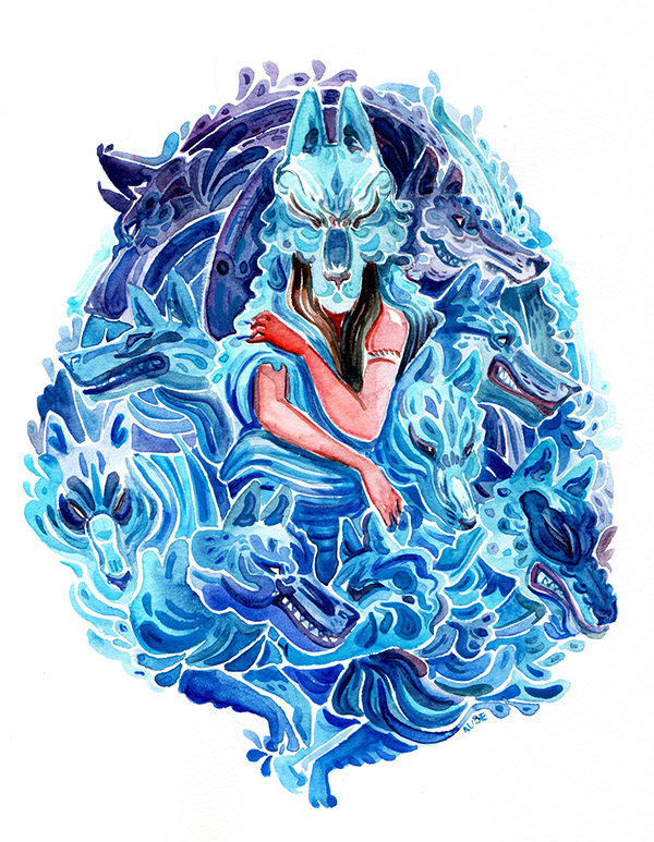 Water wolves by Pendalune