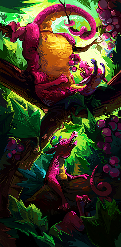 Vine Dragons by Pendalune
