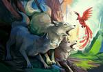 Commission - wolves