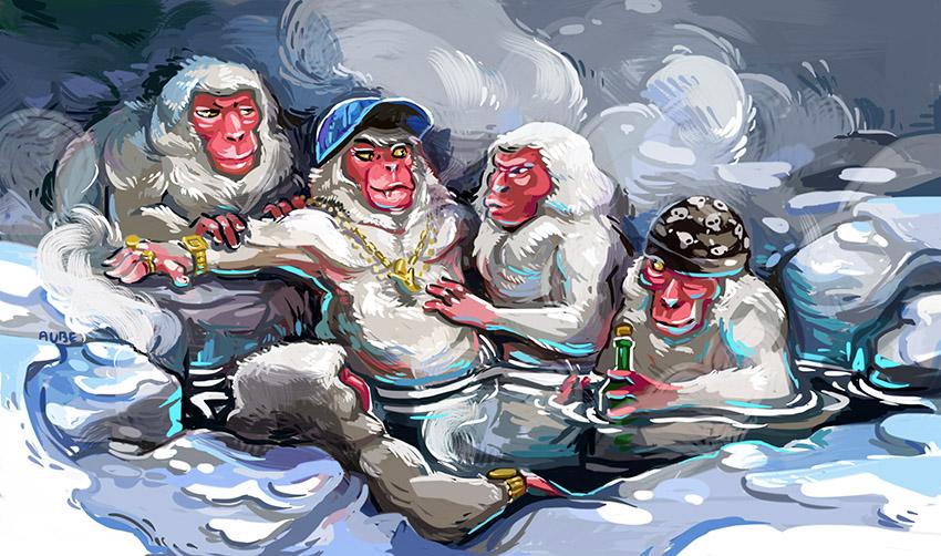 Funky monkeys by Pendalune