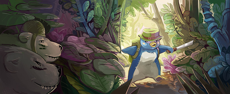 The lost penguin by Pendalune