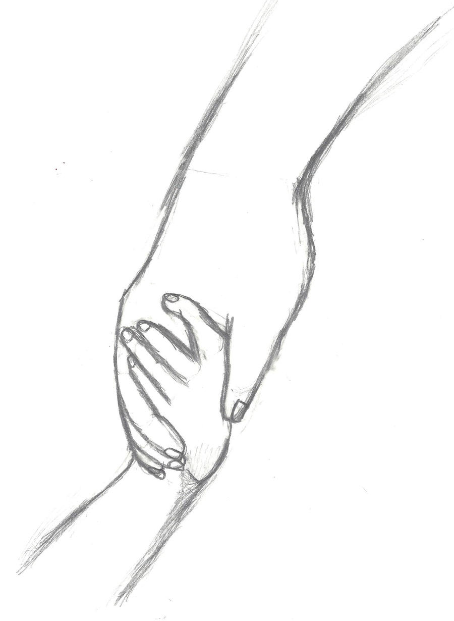 Drawings of holding hands