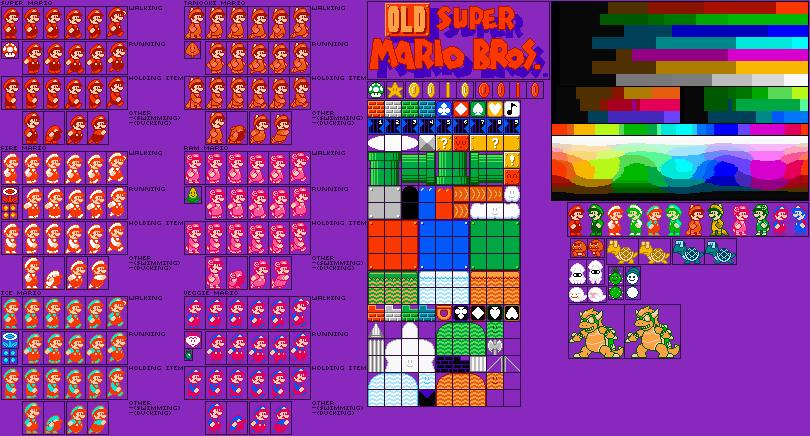 Old New Super Mario Bros  SPRITES by G0ATFAC3 on DeviantArt