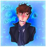 Sherlock fanart|Im Bored!!