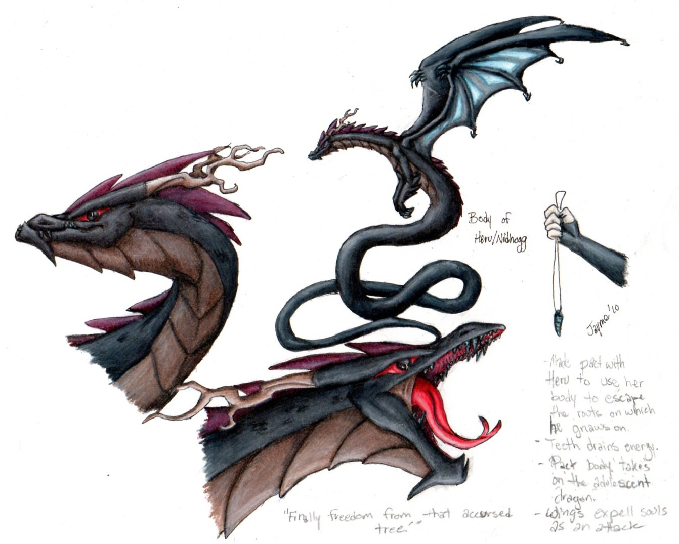 Dragon Design 1 - Nidhogg-Heru by Fai-Ness on DeviantArt