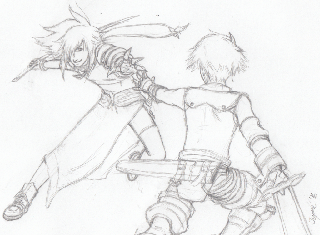WIP Sketch - Song of Swords by Fai-Ness