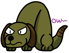 An Old OC (Serpent-Dog) by OrcaWhatever