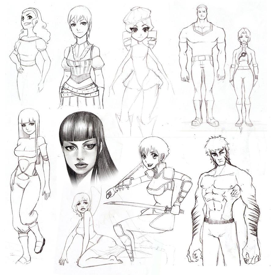 bocetos manga 004 by bdr2e37