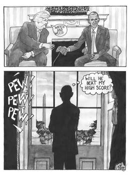 Obama hands over the controller