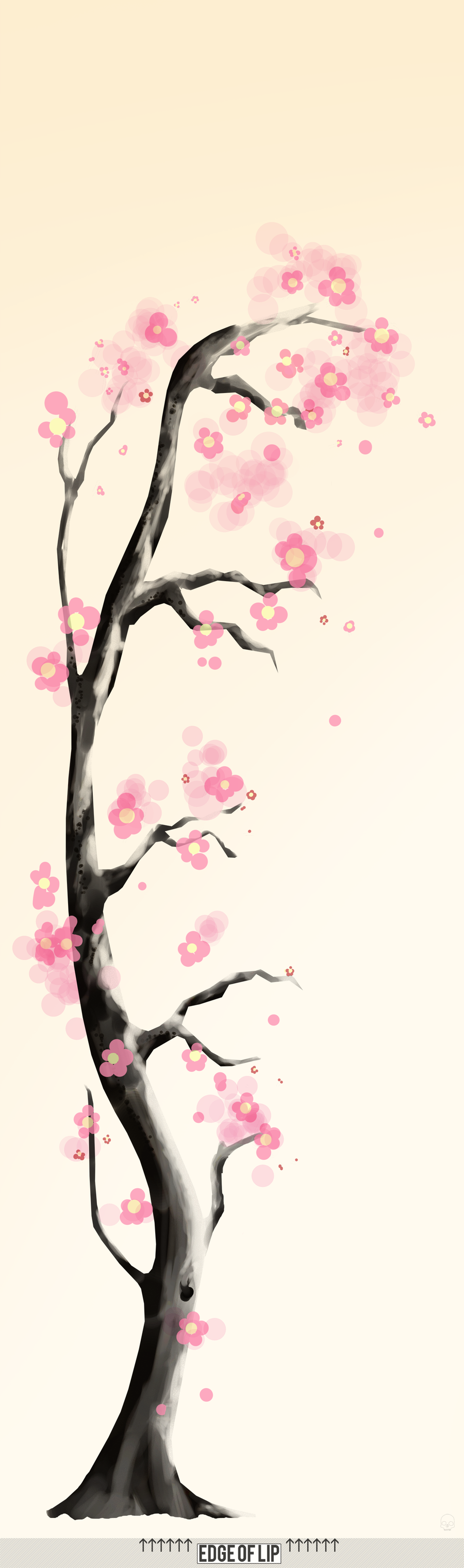 Cherry blossom wall mural by mil0oz on deviantart for Cherry blossom mural on walls