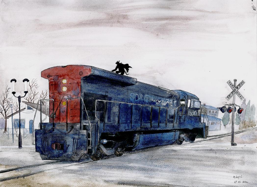 Railway hitch hiking by mikopol