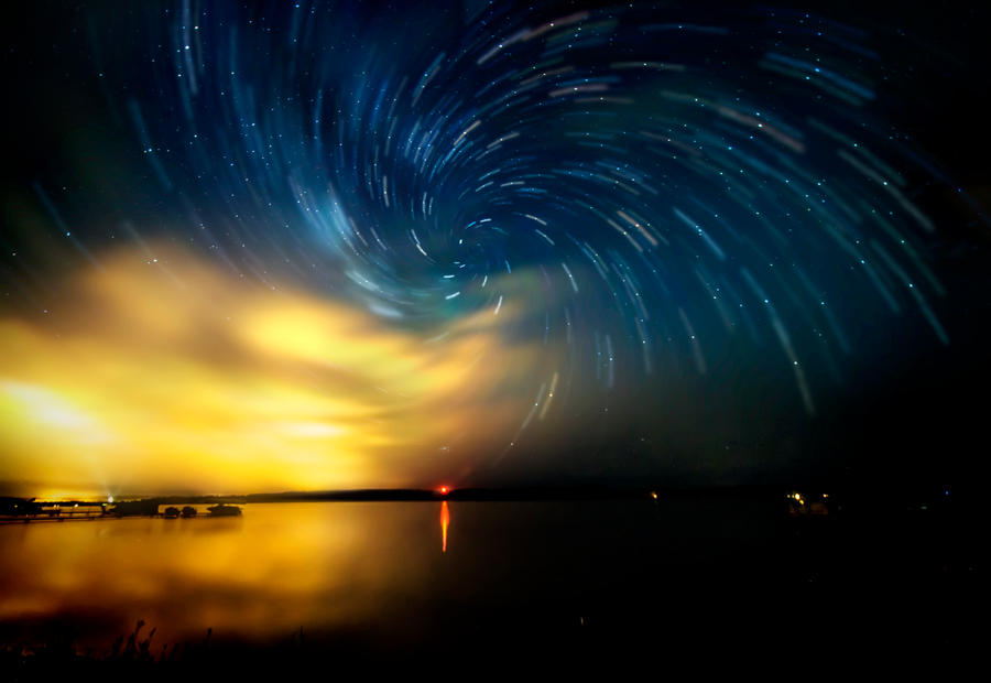 July 26th, 2014 - Night Sky over Lake Margrethe by blackismyheart90