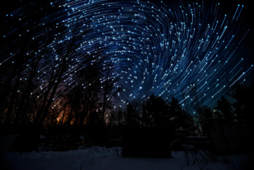 January 15th, Vortex Star Trail by blackismyheart90