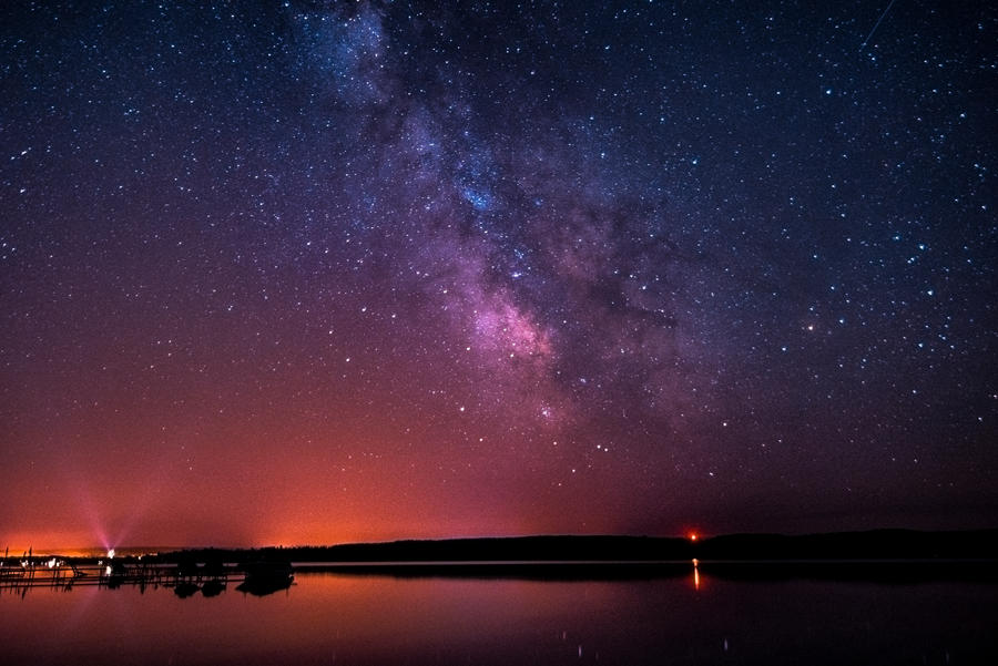 Lake Margrethe, Michigan - Milky Way by blackismyheart90
