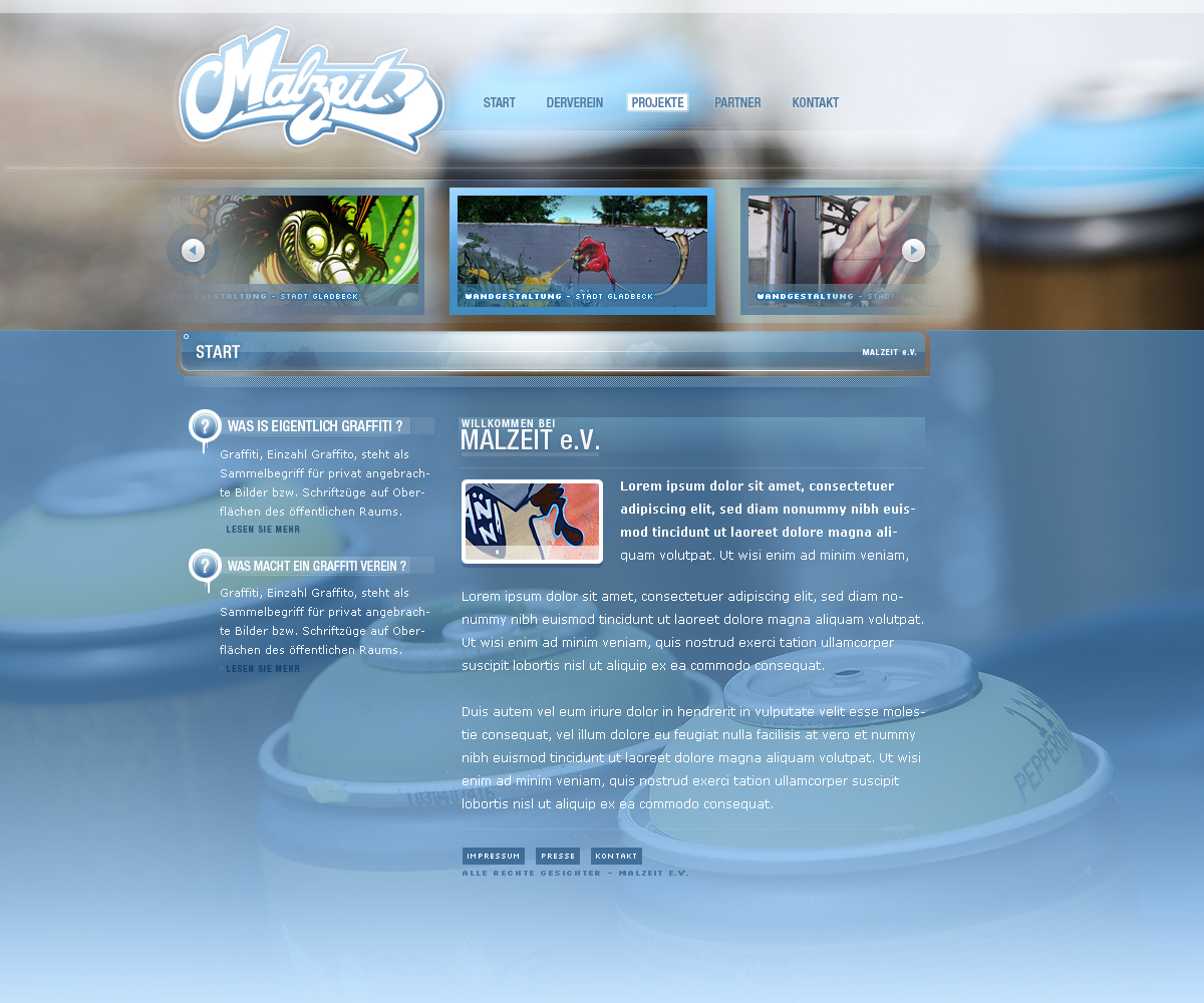 malzeit _ screendesign by stARNix63