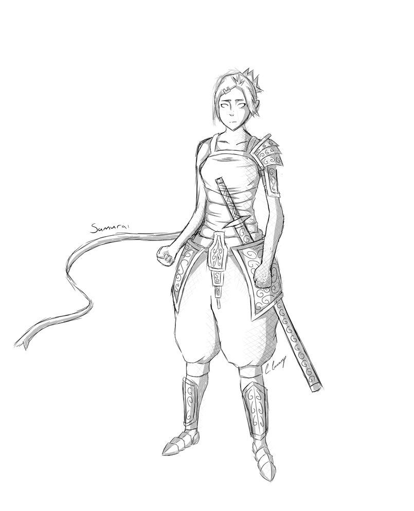 Samurai Sketch by Chrissy743