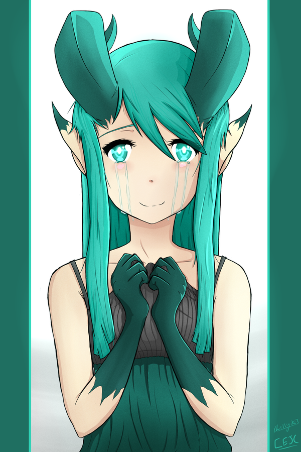 Jade Dragon Girl OC - Portrait by Chrissy743