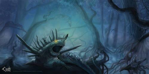 Swamp Creature by CindyAvelino