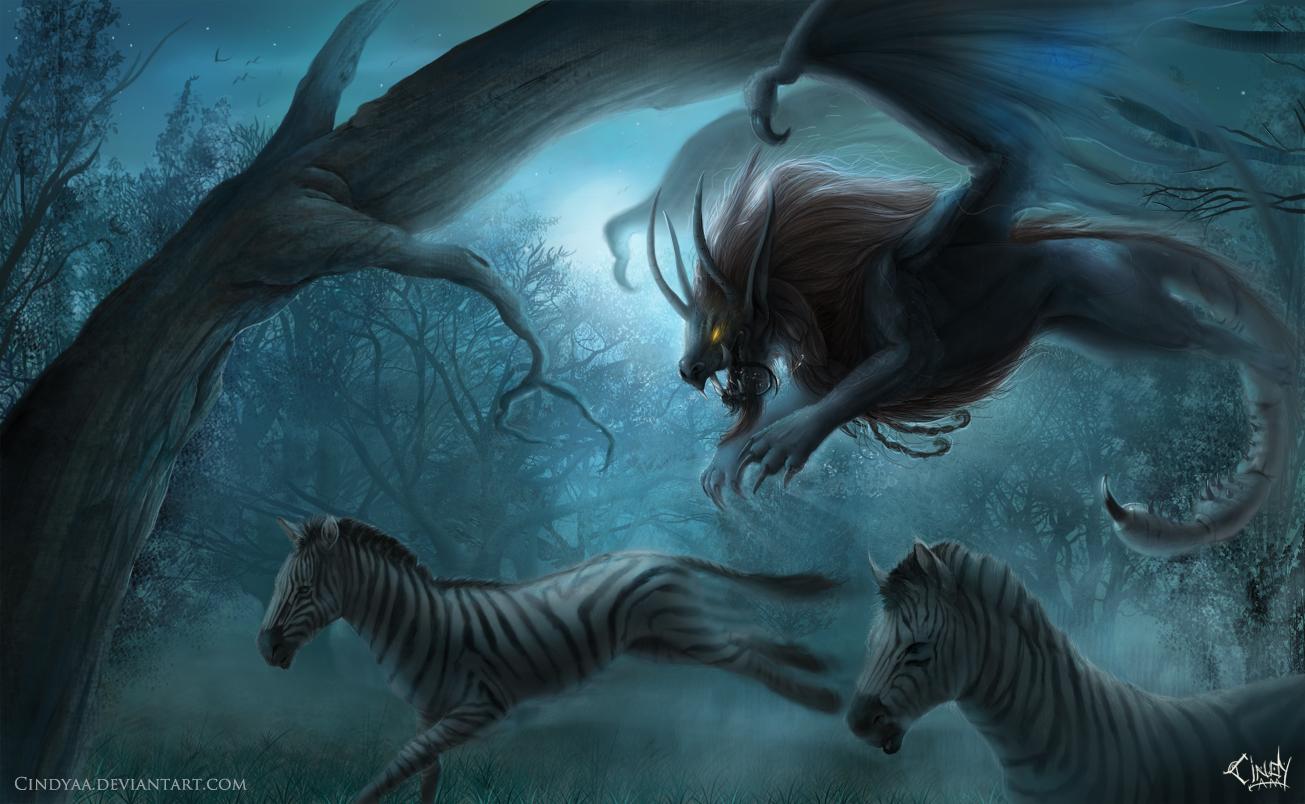 Night Hunt by CindyAA