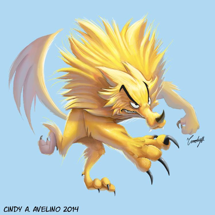 The Golden Werewolf by CindyAA