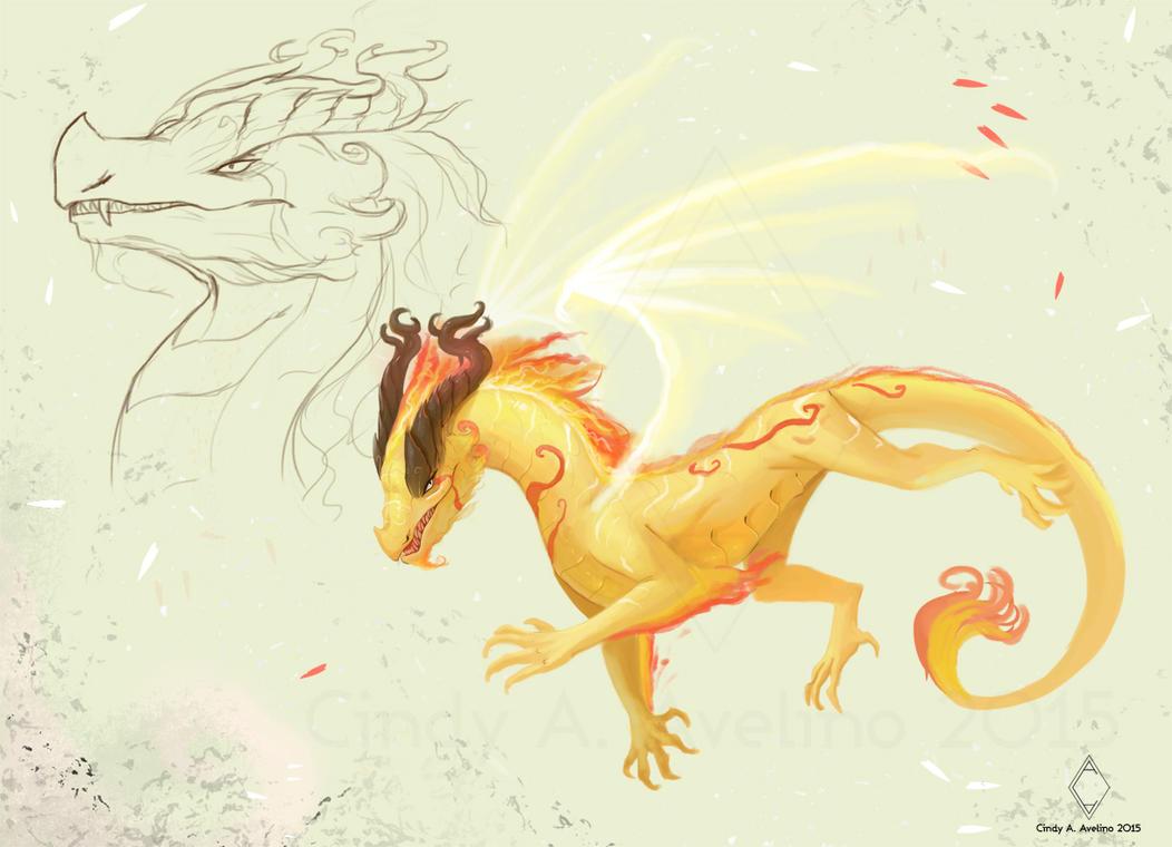 Dragon speedpainting by CindyAA