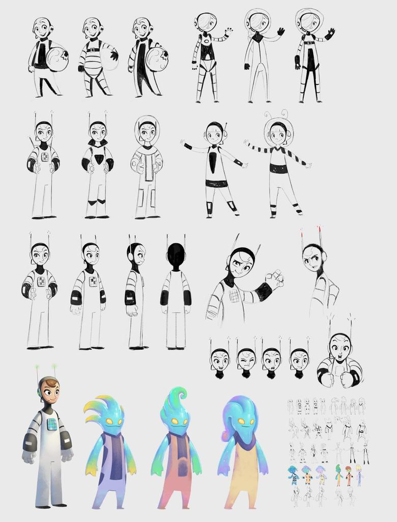 Mathtronaut characters by CindyAA
