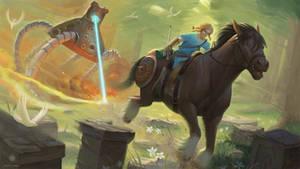 The Legend of Zelda: Breath of the Wild Fan art.