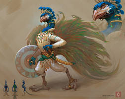Peacock character by CindyWorks