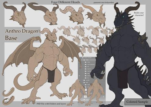 Anthro Dragon Base
