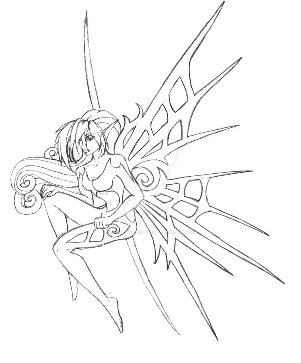 techno fairy sketch by aniseth lightwing on deviantart