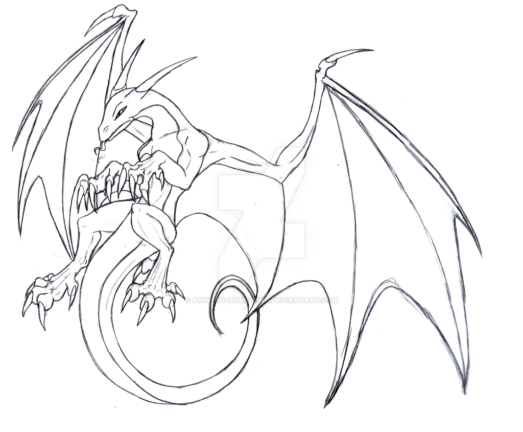 cliff dragon sketch by aniseth lightwing on deviantart