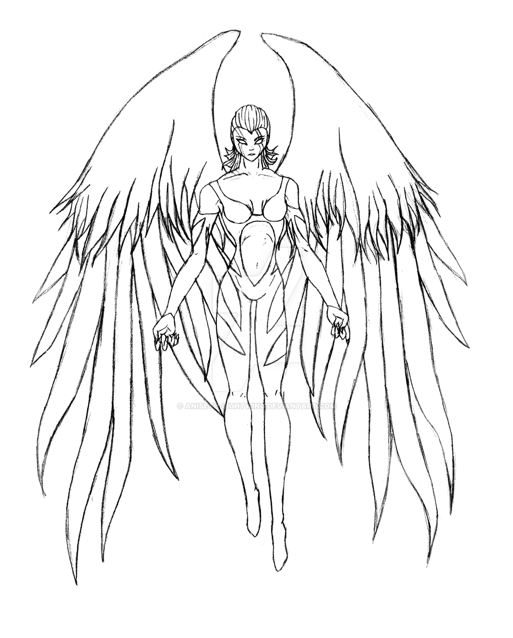 Fallen Angel Male Coloring Pages