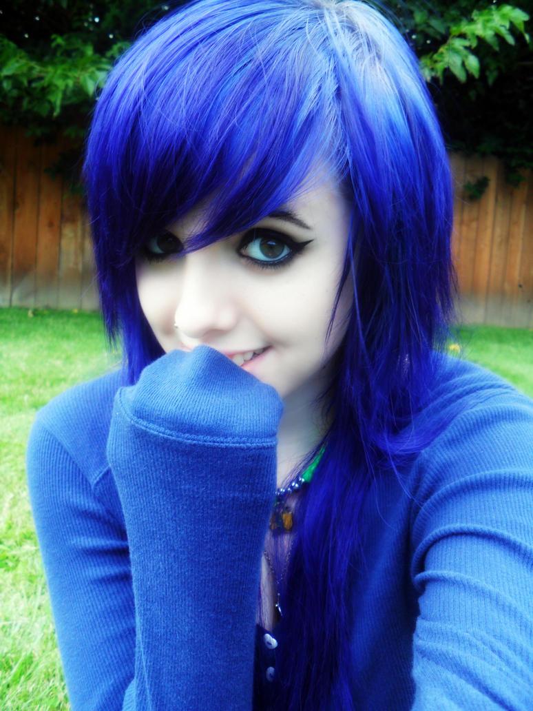 Картинки эмо с синими волосами