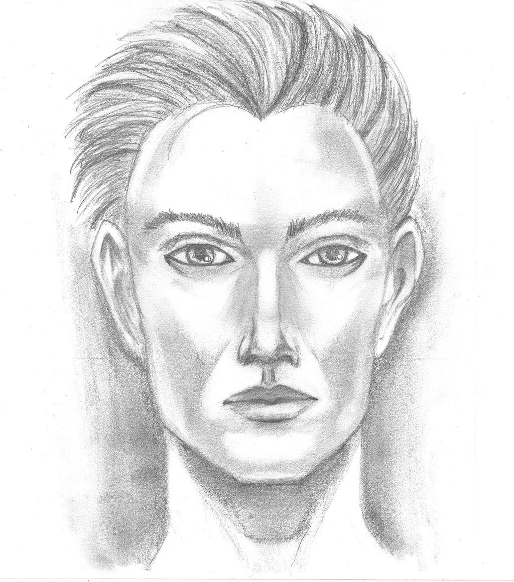 how to draw realistic male face