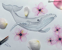 Inktober 2018 Prompt Number 12 - Whale